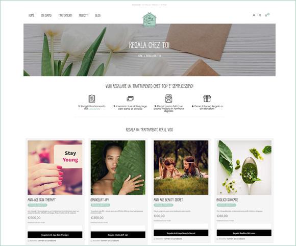 Regalare prodotti online - Sito Web basato su Woocommerce e WordPress