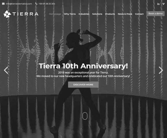 Sito Tierra Telematics realizzato da Dario Banfi