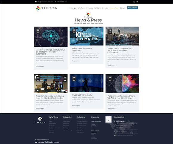 Blog aziendali e area News