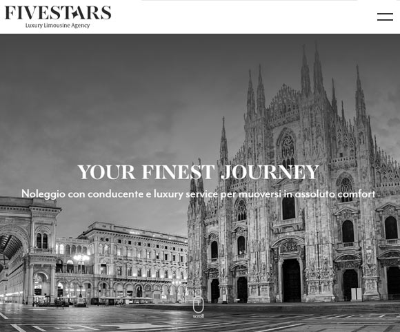 Scrittura testi per siti Web - Progetto Five Stars Agency
