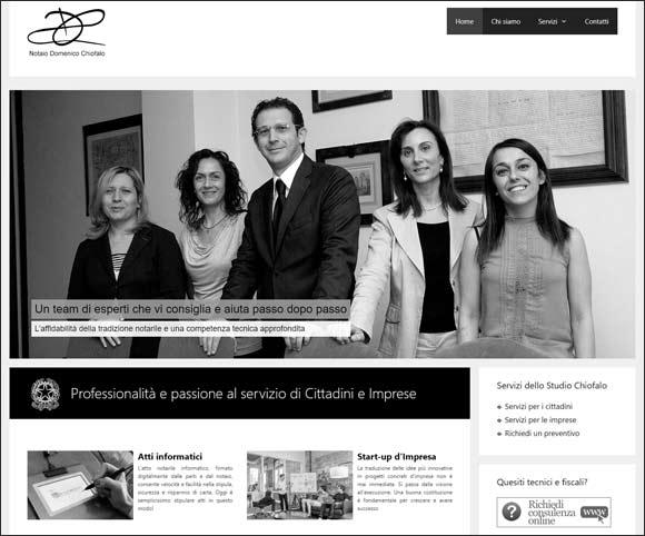 Progetto di refactoring del sito Notaiochiofalo.it - Siti per professionisti, notai, avvocati, commercialisti, consulenti
