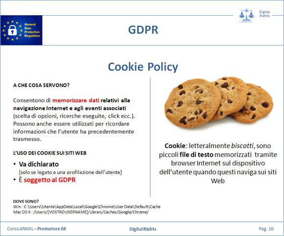 Il nuovo GDPR e la Cookie Policy per i siti Web