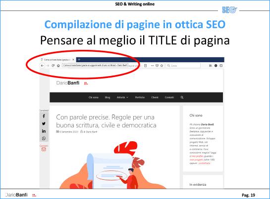 TITLE di pagina è fondamentale come dato per Google e i motori di ricerca