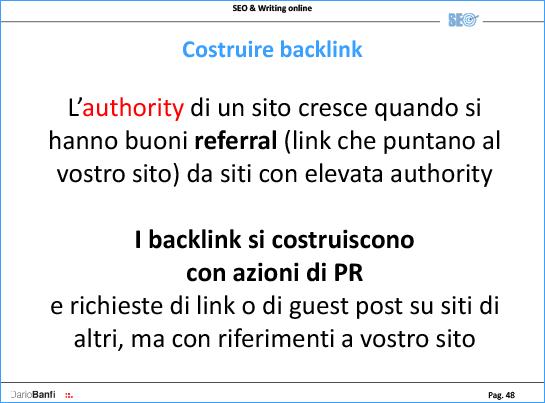 I Backlink verso il sito aumentano la reputazione e migliorano notevolmente la SEO