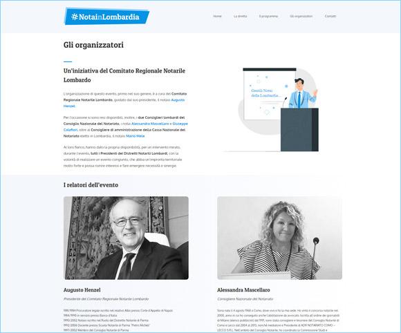 NOTAINLOMBARDIA - Organizzatori e Relatori - A cura del Comitato Regionale Notarile Lombardo