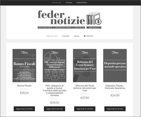Piattaforma per la vendita di ebook per notai e giuristi
