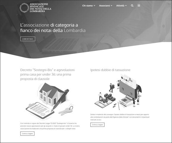 Nuovo Sito Web dell'Associazione Sindacale dei Notai della Lombardia