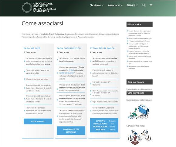Acquisto quota associativa via E-Commerce - Stripe Gateway - Woocommerce