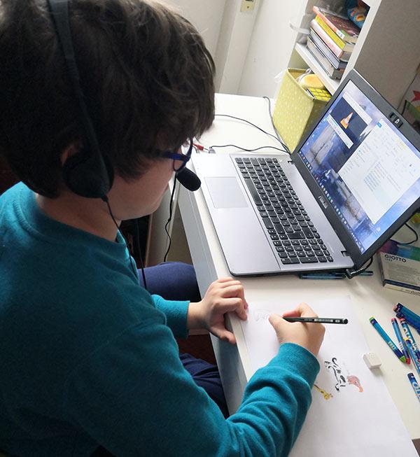 Lorenzo fa didattica online